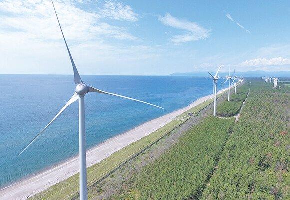 豊かな秋田を代表する風車